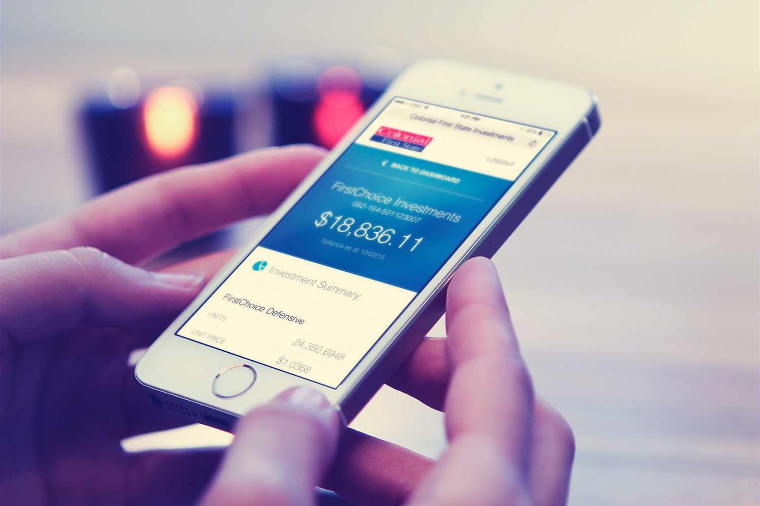 Colonial First State Superannuation mobile website